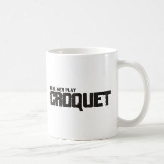 実質の人の演劇のCroquet コーヒーマグカップ