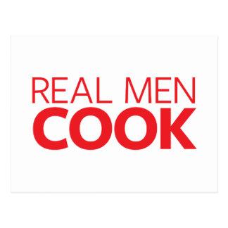 実質の人の調理師 ポストカード