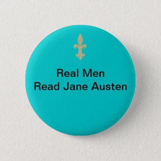 実質の人の…読書ジェーンAusten 5.7cm 丸型バッジ