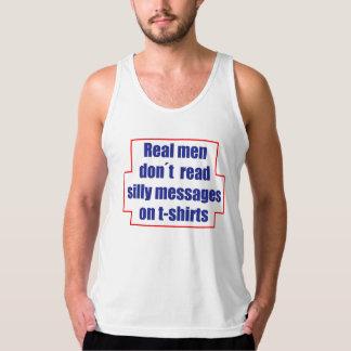 """""""実質の人のdon´t読みましたTシャツの間抜けなメッセージを""""は タンクトップ"""