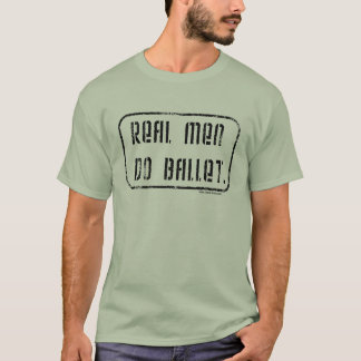 実質の人はバレエをします Tシャツ