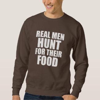 実質の人は彼らの食糧おもしろいなことわざを捜します スウェットシャツ