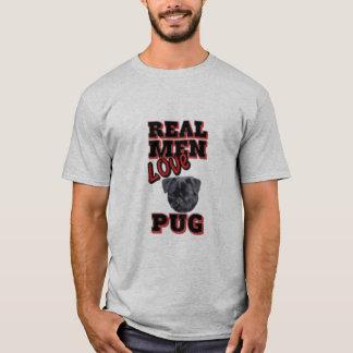 実質の人愛パグ Tシャツ