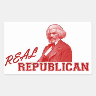 実質の共和党員、Frederick Douglass 長方形シール