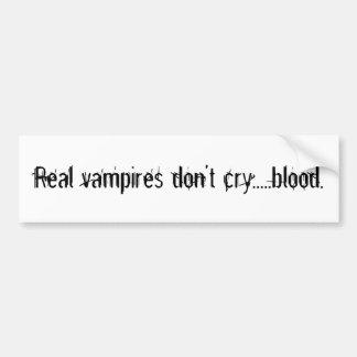 実質の吸血鬼は血.....叫びません バンパーステッカー