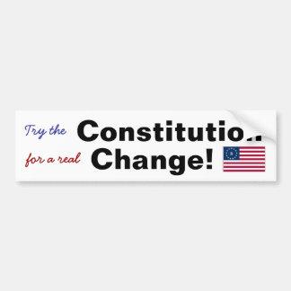 実質の変更のための憲法を試みて下さい! バンパーステッカー