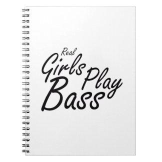 実質の女の子の演劇の低音の黒 ノートブック