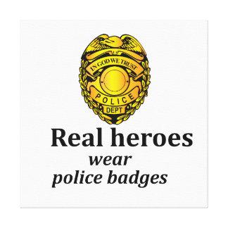 実質の英雄の衣服の警察のバッジ キャンバスプリント