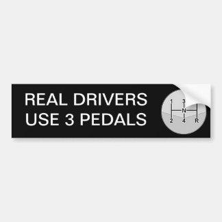 実質の運転者の使用3ペダル バンパーステッカー