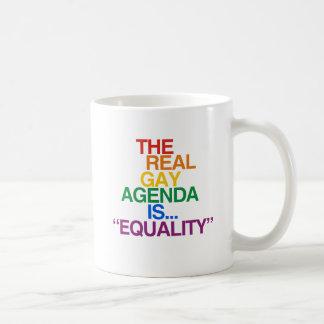 実質の陽気な議題 コーヒーマグカップ