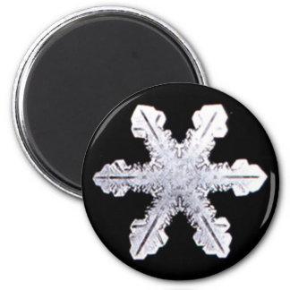実質の雪片の写真 マグネット