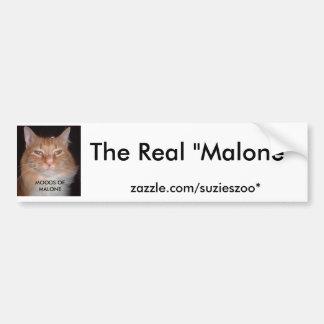 実質のMalone - MALONEの気分 バンパーステッカー