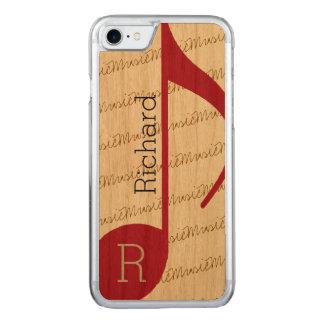 実質カッコいいの赤のミュージカルノート CARVED iPhone 8/7 ケース