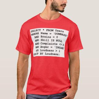実質生命SQL Tシャツ