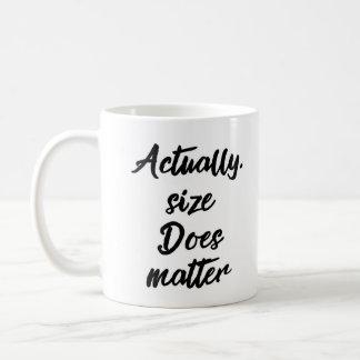実際にはサイズはマグ重要です コーヒーマグカップ