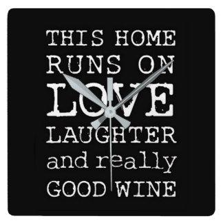 実際によいワインの時計 スクエア壁時計