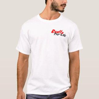 実際に妊娠中絶反対 Tシャツ