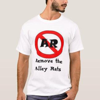 実際に愚かなF.: 反細道のラットの方針 Tシャツ