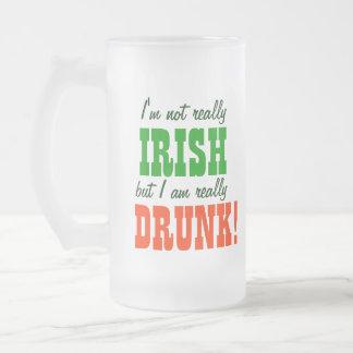 実際に飲まれる実際にアイルランド語ないちょうど フロストグラスビールジョッキ