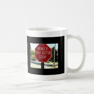 実際に、ストップために得ました コーヒーマグカップ