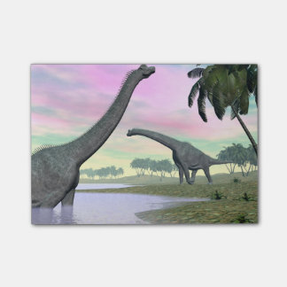実際のところブラキオサウルスの恐竜- 3Dは描写します ポストイット