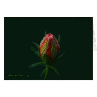 実際のところ活気付くモモのハイビスカスの花の精神 カード