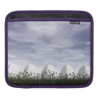 実際のところ白いイースターエッグ- 3Dは描写します iPadスリーブ