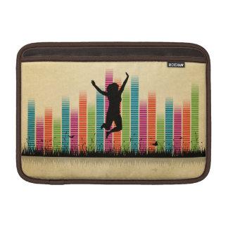 実際のところ跳躍の女性 MacBook スリーブ