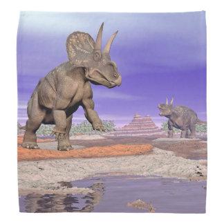 実際のところNedoceratops/diceratopsの恐竜 バンダナ