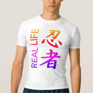 実際の忍者の数々のな漢字の圧縮のワイシャツ Tシャツ