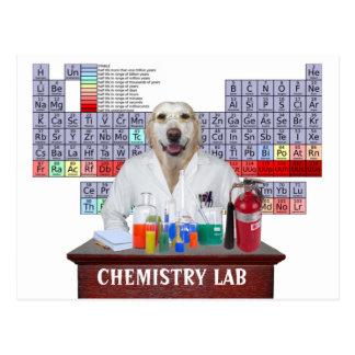 実験室が付いているおもしろいな化学先生の郵便はがき ポストカード