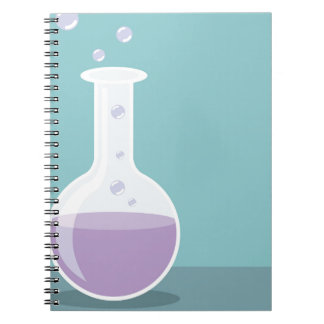実験室のビーカー ノートブック