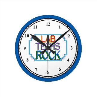 実験室の技術の石 ラウンド壁時計