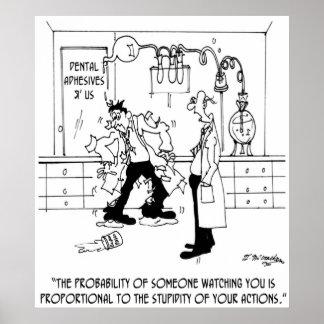実験室の漫画6198 ポスター
