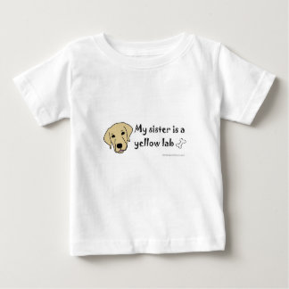 実験室より多くの犬の品種を黄色にして下さい ベビーTシャツ