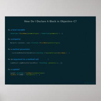客観的なCブロックの構文法 ポスター