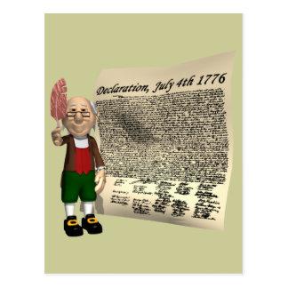 宣言1776年7月4日 ポストカード