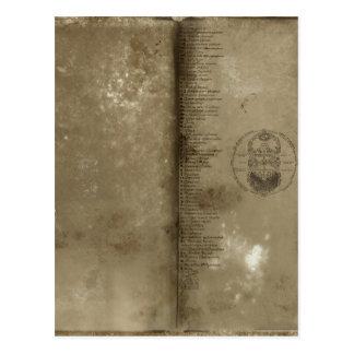 宣言; ヴィンテージの古い学校シリーズ ポストカード