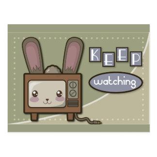 室内用V字型テレビアンテナ ポストカード