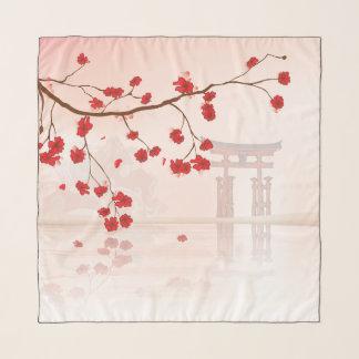 宮島の日本人の神社 スカーフ