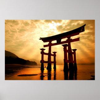 宮島の素晴らしい出入口 ポスター