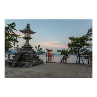 宮島のtoriiのゲート、日本 ポスター