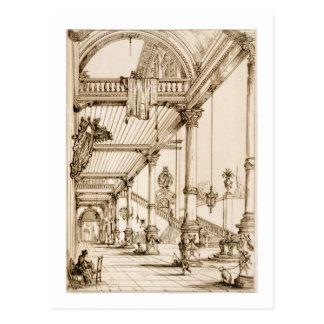 宮殿のアトリウム、「芸術およびIndustからの遺伝子で、 ポストカード