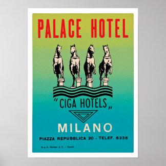 宮殿のホテルミラノ ポスター