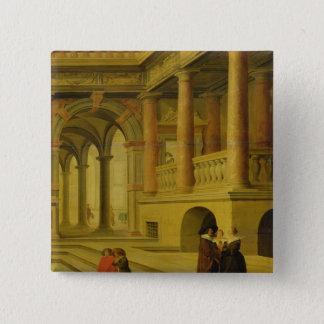 宮殿の中庭 5.1CM 正方形バッジ