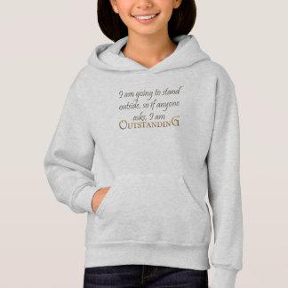 害の顕著な女の子の柔らかいフード付きスウェットシャツ