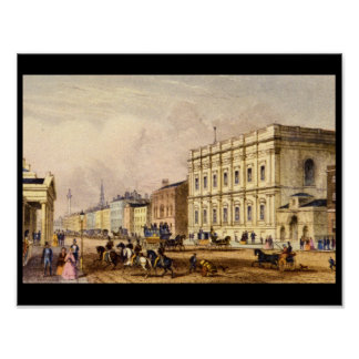 宴会でもてなす家、Whitehall_Engravings ポスター
