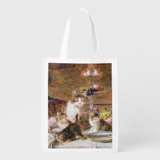 宴会、19世紀の子ネコ エコバッグ