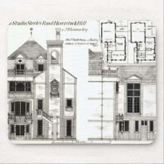 家およびスタジオのSteeleの道、Haverstock マウスパッド