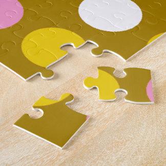 家およびビジネスの明るい色のポルカドット ジグソーパズル
